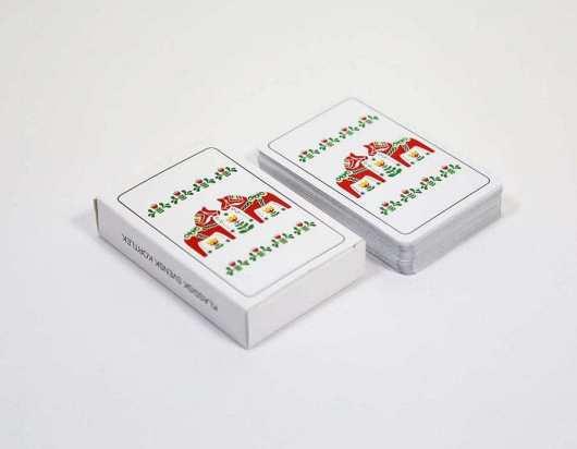 Kortspil med dit eget tryk - Dalahästar