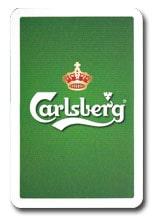 Din egen logotyp på kortlek - Carlsberg