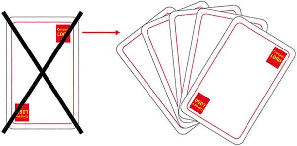 Instruktioner - Placering logotyp, gör inte såhär